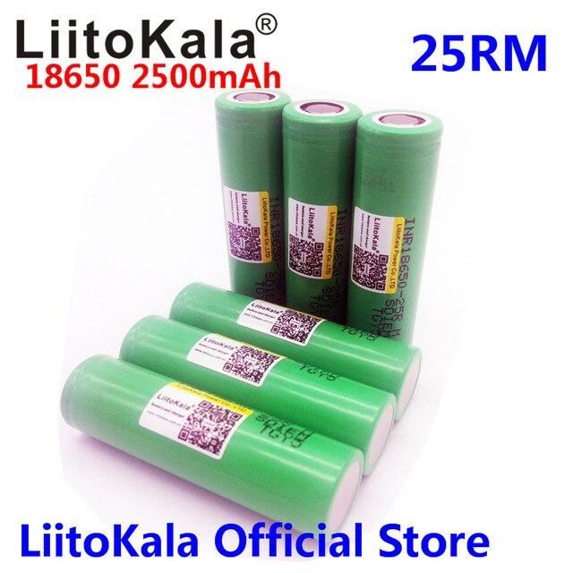 Liitokala 18650 2500 mAh INR1865025R 20A descarga de baterías de litio batería cigarrillo electrónico 18650 2500 25R