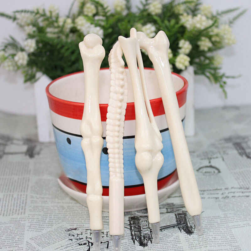 1PC/lot Creative bones pens novelty ballpoint pens Lovely bone pen Best gift for children