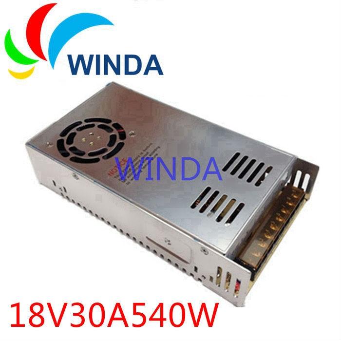 цена на 540W switching power supply output 18V30A built-in cooling DC fan security full range DC transformer 110V 220V