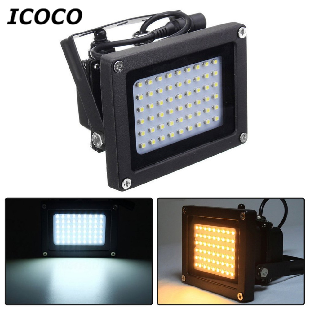 ICOCO 54 LED Solar Powered LED Flood Light Radar Induction IP65 Waterproof Outdoor Lamp for Home Garden Lawn Pool Yard Drop Ship 150 leds solar powered led flood light radar induction spotlight ip65 waterproof outdoor lamp for garden lawn pool yard 2 color