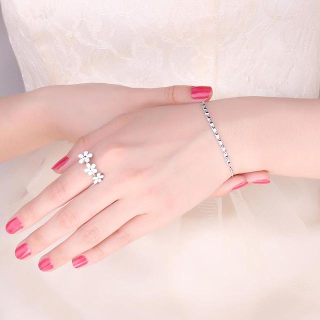 Marquise Love Sterling Silver Bracelet
