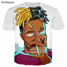 3D Print Rapper Character XXXTentacion Tshirt Men/Women Hip Hop Streetwear T-shirt Boys Modis T shirt Tops Man White Clothes 5XL