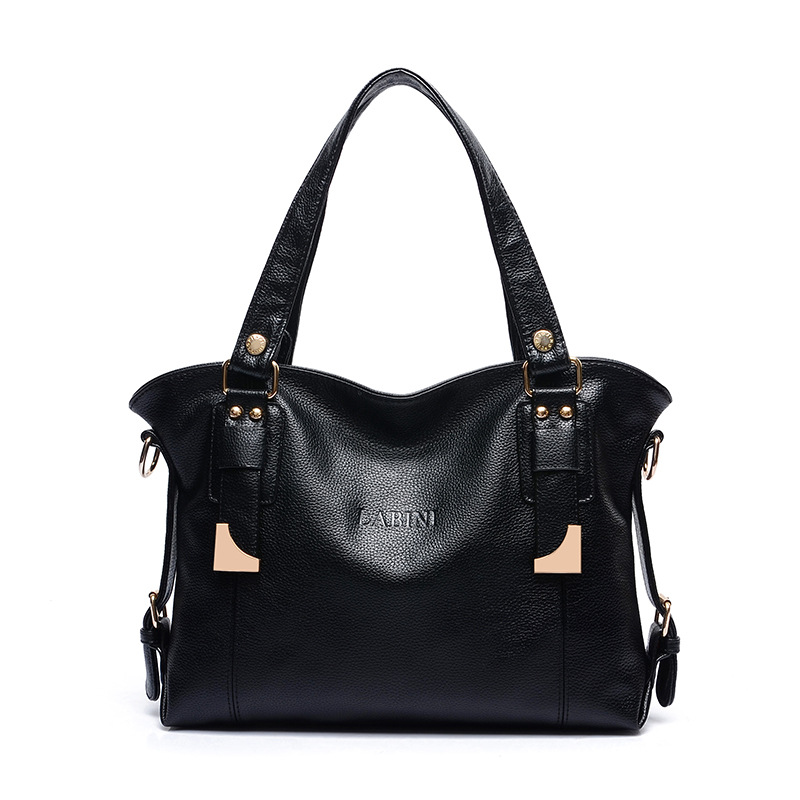 Women's duffle bag made of European and American fashion belts, high-quality calfskin fabric made by women leather handbags