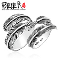 BEIER 925 sterling silver jewelry rings for lovers Romantic Feather Angel Wing Ring for Men And Women Couple Ring  YM002