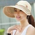 2016 Wide Brim Anti Sun Hats For Women Motor Caps Panama Fedoras Outdoor Top Beach Visor Hat Straw Cap Ajustable Bicycle Sunhat