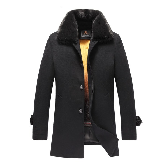 2017 Men 's Mink  Coat free shipping DHL EMS