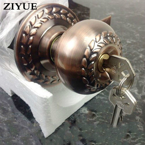Red bronze ball bedroom indoor bathroom toilet locked wooden spherical door lock with key keyes hall effect magnetic sensor module for arduino works with official arduino boards