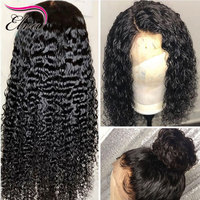 Elva Hair Curly Human Hair Wigs Glueless Full Lace Human Hair Wigs For Women Pre Plucked With Baby Hair 360 Lace Frontal Wig
