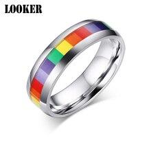 Rainbow LGBT Ring For Gay Wedding