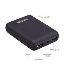 Floureon 10000mAh Мини Портативный банк питания двойной USB lcd банк питания Тонкий портативный внешний аккумулятор зарядное устройство для XiaomiIphone