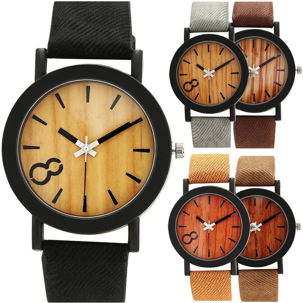 Superior Women's Men's Neutral Simple Fashion Leather Quartz Wooden Wrist Watch Unisex Relogio Feb13 Fashion Drop Shipping