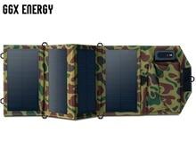Haute Qualité 7.2 W Portable Chargeur Solaire pour Téléphone Mobile iPhone Pliant Mono Panneau Solaire + Solaire Pliable USB Batterie chargeur