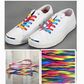 Fashion Rainbow Color Shoelace Men Women Two Pairs a set 90 to 140 cm Flat Shoe Sport Shoe Laces Multi-color HSF24