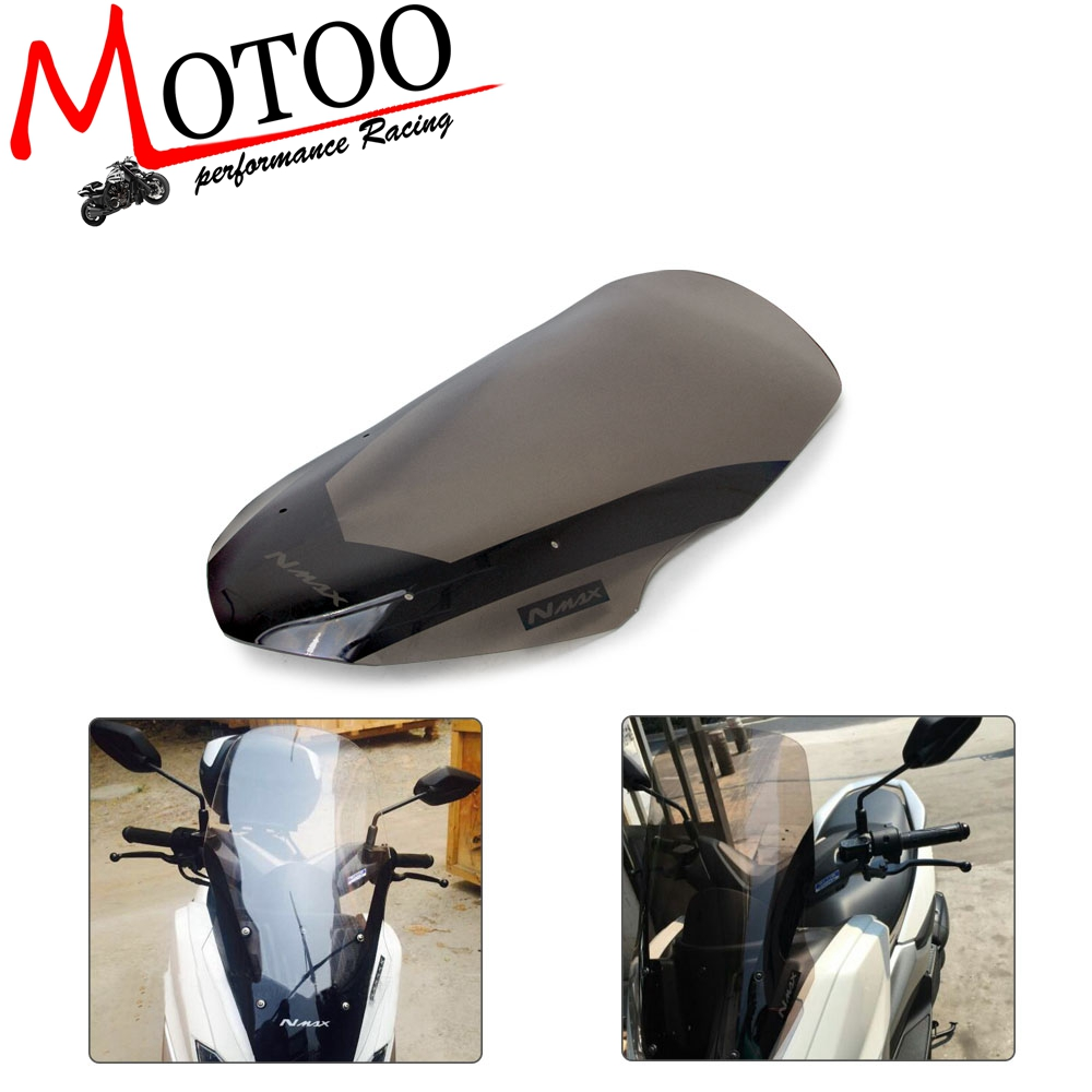 Motorcycle Windscreen <font><b>Windshield</b></font> Deflector For <font><b>Yamaha</b></font> NMAX155 N-MAX 125 <font><b>NMAX</b></font> 155 2016-2018 image