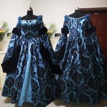 купить New blue Vintage costumes 18th Duchess Retro medieval Renaissance Reenactment Theatre Civil war Victorian dress D-288 дешево
