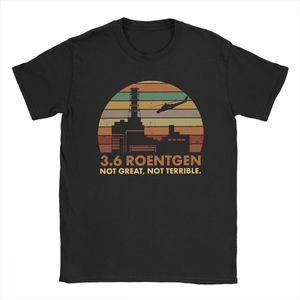 الرجال 3.6 رونتجن ليست كبيرة لا الرهيب تي شيرت تشيرنوبيل تلفزيوني قمم الإشعاع النووي T قميص الترفيه المحملة قميص