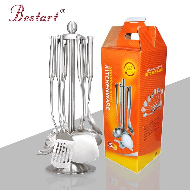 7 piece 18 10 stainless steel kitchen utensils kitchen for Kitchen set 7 in 1