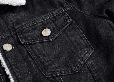 Grandwish 冬メンズジャケットターンダウン襟パーカーインナーフリースデニムジャケットプラスサイズ 5XL 生き抜くコート男性の服、 ZA060