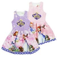 2018 Summer Flower Dresses Kids Belle Cosplay Costume Clothing Children Rapunzel Cinderella Sleeping Beauty Sofia Party