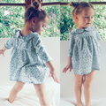 Fashion Baby Dress Long Sleeve Pirncess Girls Clothes Spring Peter pan Collar Children Dresses For Girls Floral Clothing dress