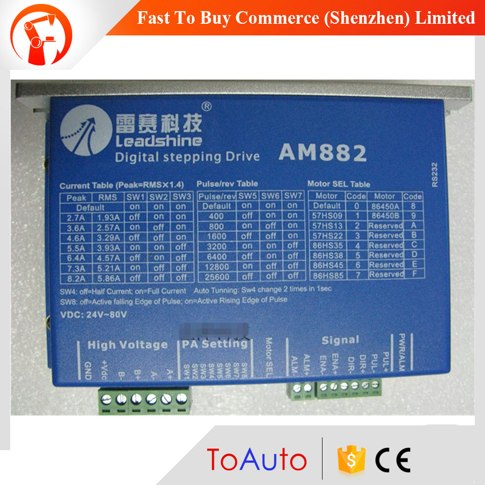 цена на New Leadshine AM882 2-phase High-precision Digital Stepper Drive Match NEMA 23-34 Mode Motor 80V DC 0.1A - 8.2A