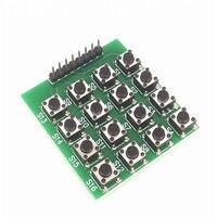 Módulo piezas de teclado de 5 piezas 4x4 teclado de matriz 16 teclas chip único módulo de teclado de microordenador para arduino