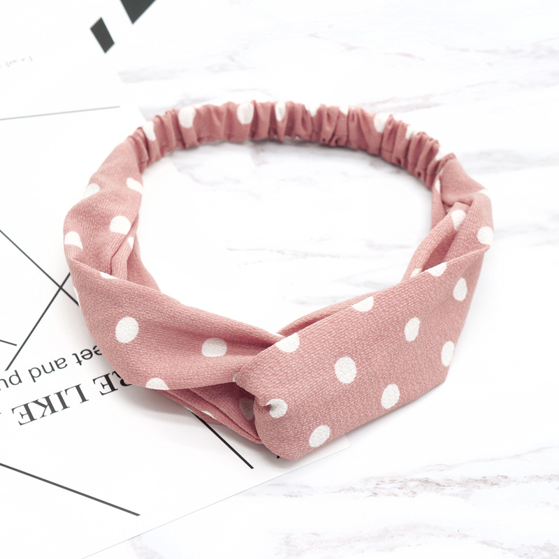 New Women Literary Wave Point Headbands Fashion Round Dot   Headwear   Girls Hair Accessories for Bath Makeup Hair Band Head Band