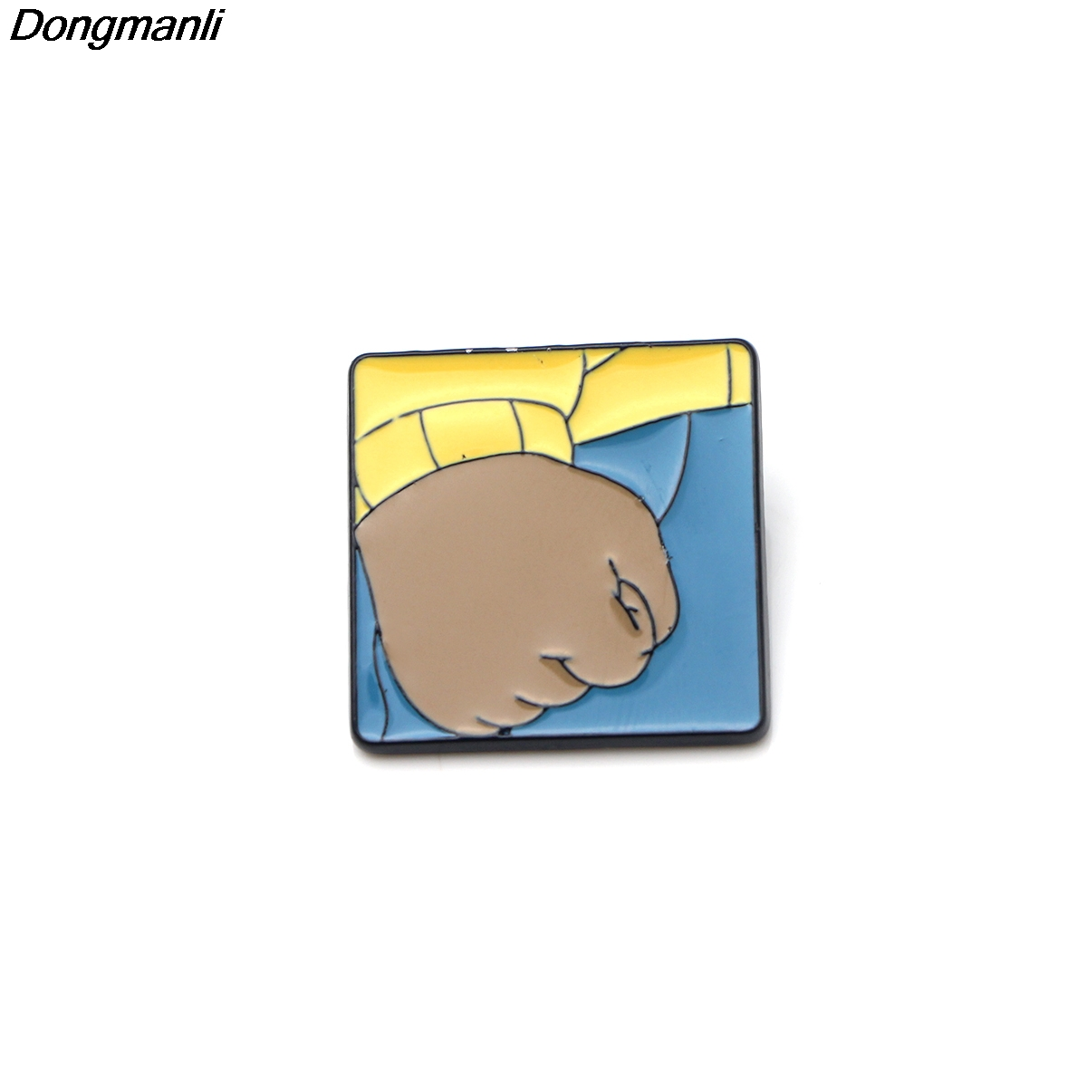 P2596 Dongmanli Arthur's Fist Metal Enamel Pins and Brooches for Women Men  Lapel pin backpack badge Gifts