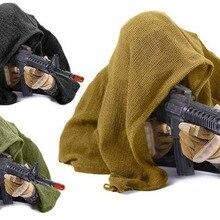 190*90 см хлопок военный камуфляж тактический сетчатый шарф снайперская вуаль для лица Кемпинг Охота Многоцелевой походный шарф