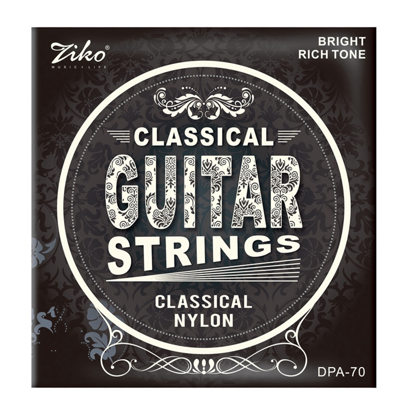 Ziko Dpa-70 Classical Guitar Strings Nylon Core Silver Plated Copper Wound High Tension 1