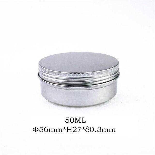 Récipients cosmétiques ronds en Aluminium | Petits pots demballage vides en Aluminium de 5g/10g/15g/25g, crème de soins de la peau 50 pièces/lot
