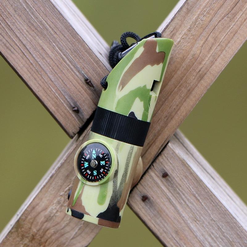 1PCS 7-də 1 Düşərgə Survival fit Kompas Termometr Fənər - Komanda idman növləri - Fotoqrafiya 5