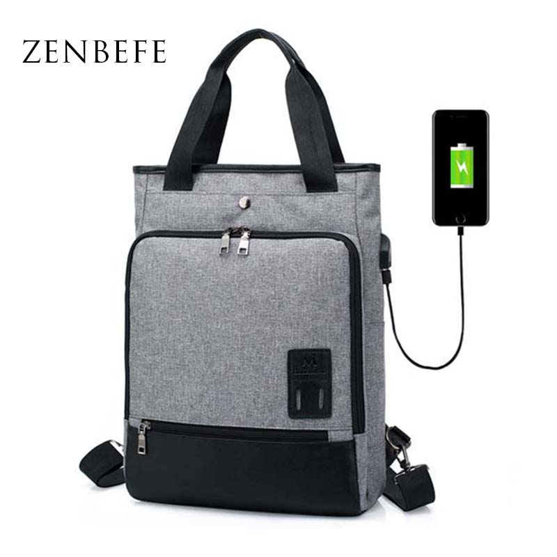 Zenbefe Multifunction Business Bag External Usb Charge Laptop Backpack For 14 Inch Laptop Bag Business Backpack School Backpacks