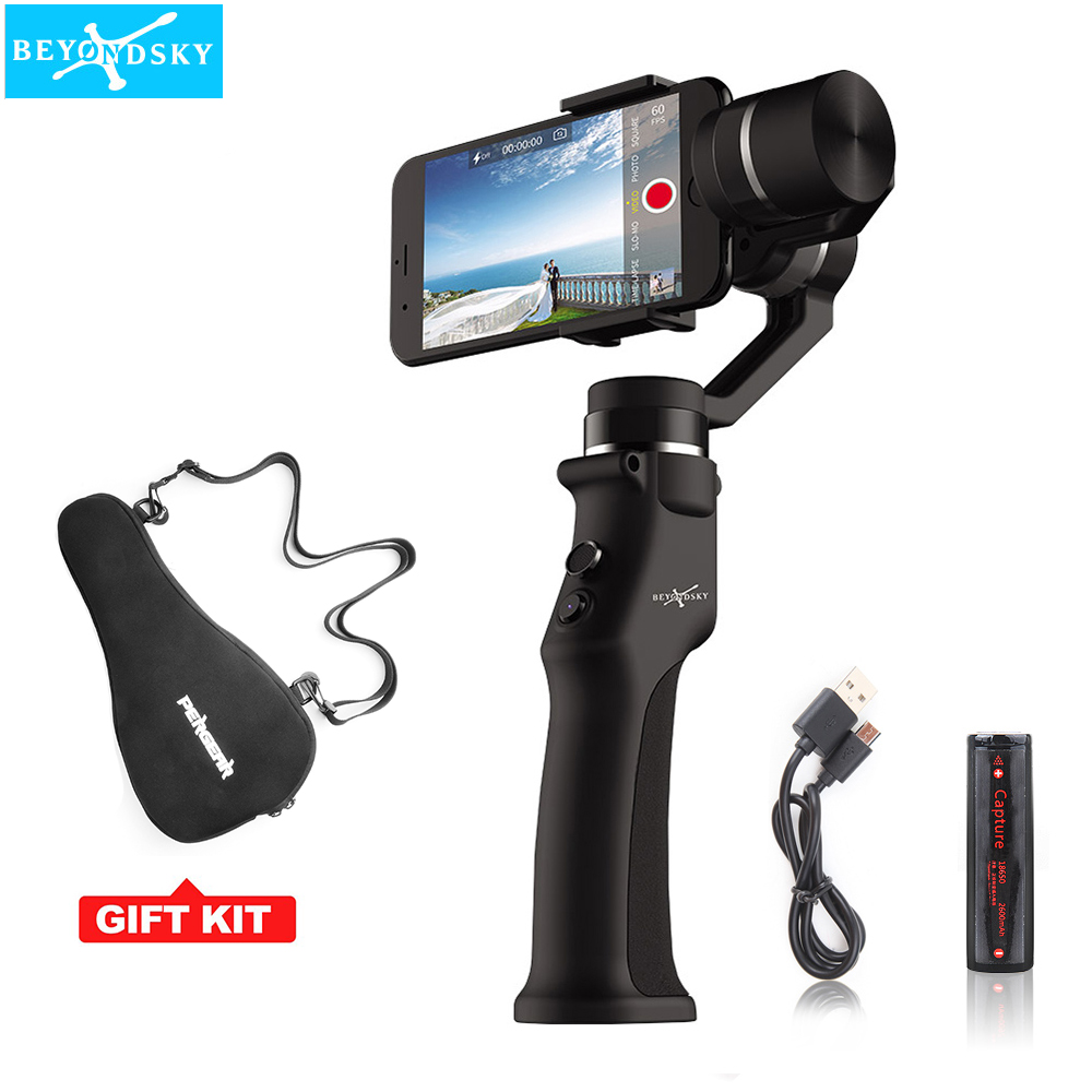 Beyondsky Eyemind 3-Axis Smartphone Handheld Gimbal Stabilizer for iPhone XS X 8 Xiaomi Samsung S9 S8 Action Camera PK Smooth 4 beyondsky eyemind smartphone handheld gimbal 3 axis stabilizer for iphone 8 x xiaomi samsung action camera vs zhiyun smooth q