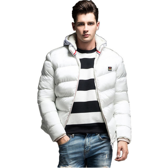 Winter Jacket Men 2017 Parka Men Brand Clothing Zipper Cotton Padded Slim Fit Hooded Thick Quilted Jackets Coat Mens Hoodies