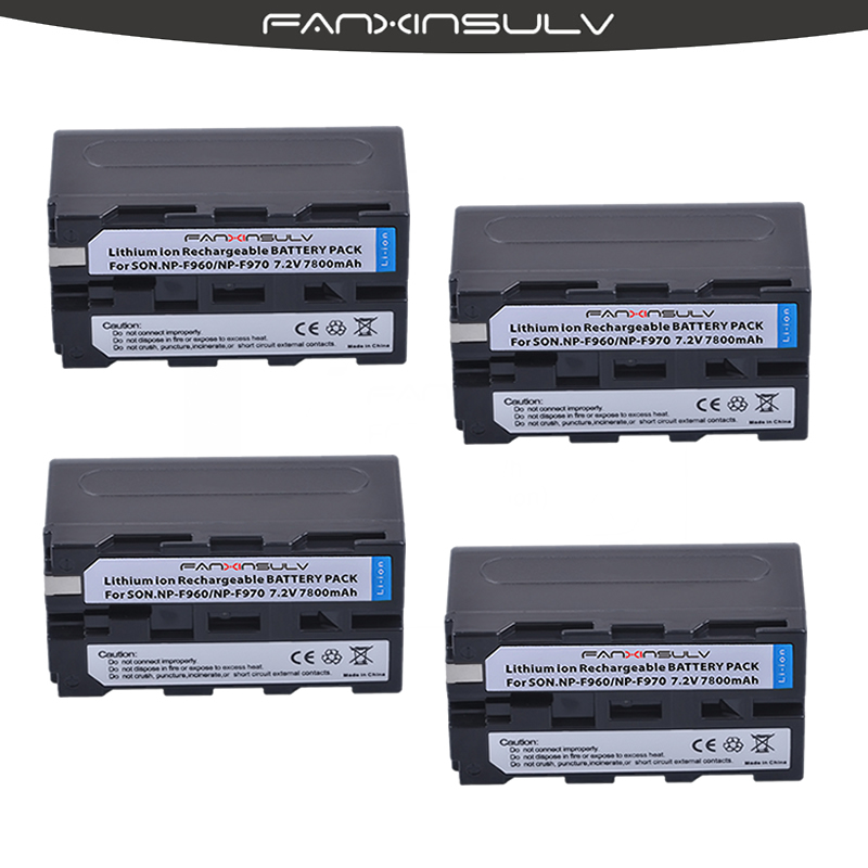 4 True capacity7800mAh NP F970 Batteries NP F970 F960 Battery For sony HXR NX3 dcrvx2100 hdrfx1 fx7 hd1000u hvrz1u pm092 mc2500