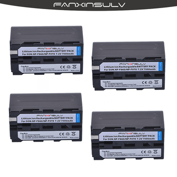 4 cierto capacity7800mAh NP-F970 baterías NP F970 F960 batería para sony HXR-NX3 dcrvx2100 hdrfx1 fx7 hd1000u hvrz1u pm092 mc2500