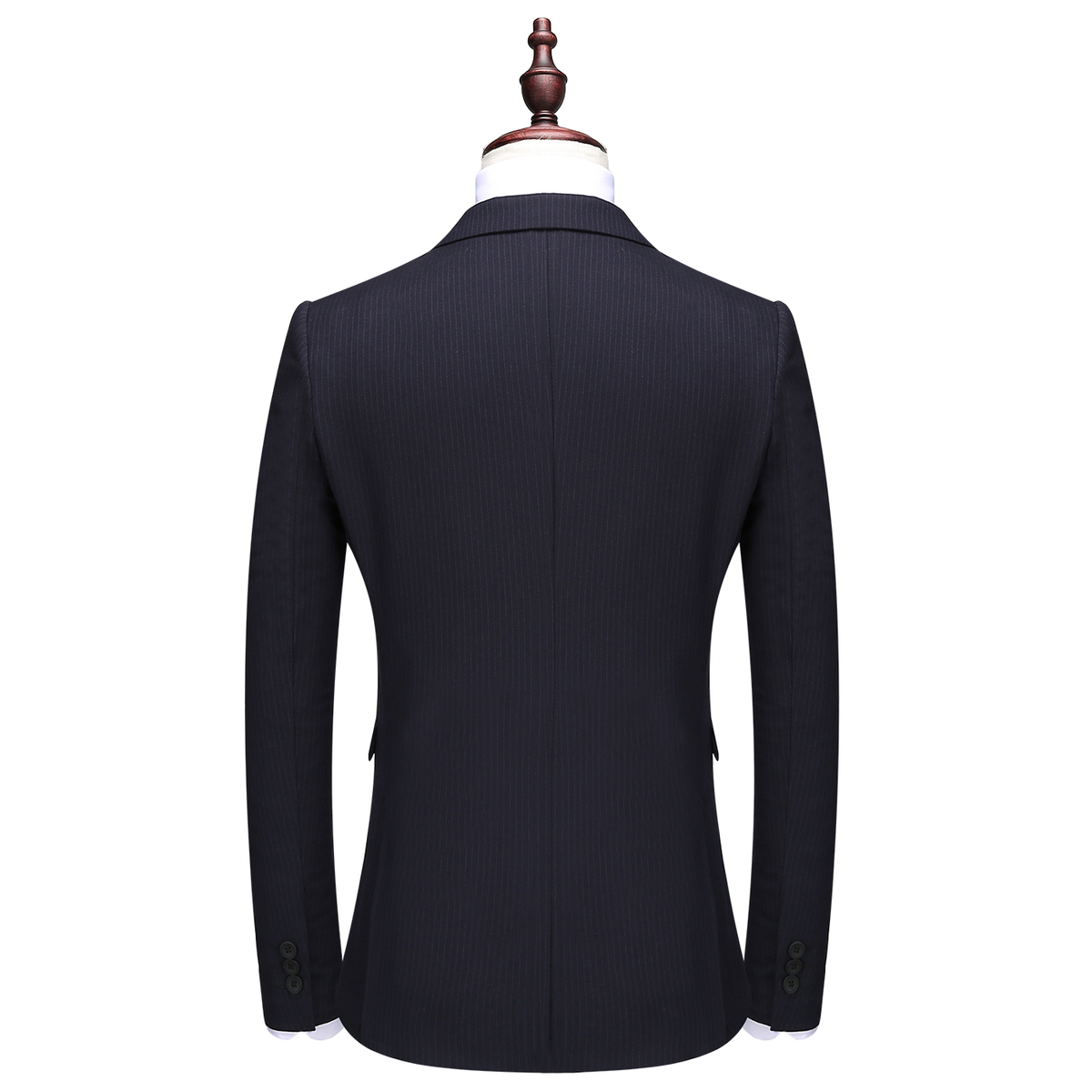 Striped Double Breasted Suit Men Slim Fit Leisure Costume Homme Mariage Party Business Casual Tuxedo Jacket CD30