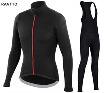 Único Negro Mens Winter Thermal Fleece Jerseys de Ciclo de la Bicicleta de La Bici Mountaion Ropa MTB Jerseys Ropa Ciclismo 3D Gel Pad