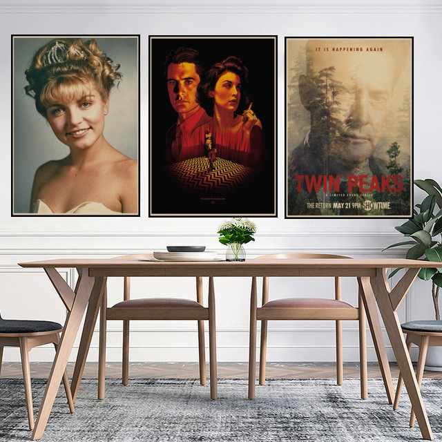 Horror Film Twin Peaks Vintage Retro Kraft Poster Decorativo di DIY Wall Stickers Home Bar Art Poster Decorazione Regalo T2