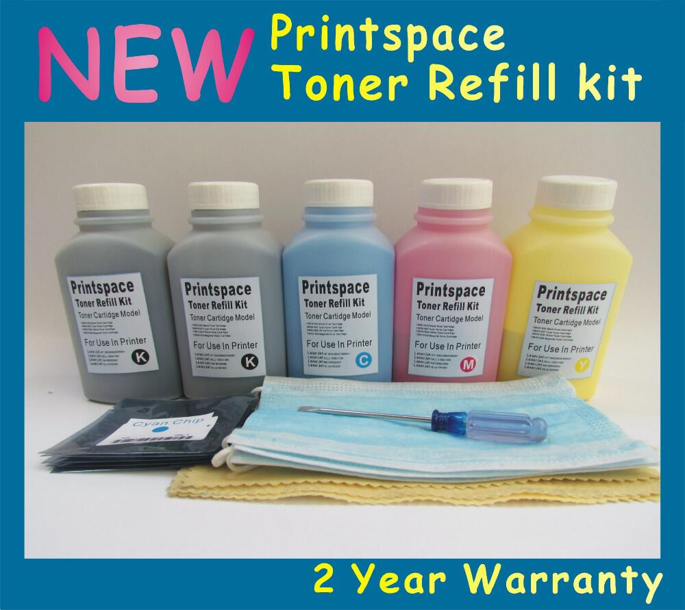 5x NON-OEM Toner Refill Kit + Chips Compatible For Xerox Phaser 6020 6022 Workcentre 6025 6027 2BK+CMY Free shipping