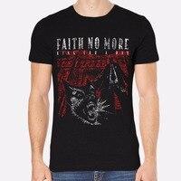 اهتمام الصور طاقم الرقبة الإيمان لا أكثر الصخور جديد الرجال القميص الملابس السوداء 135 الجدة قصيرة الأكمام تيز للرجال