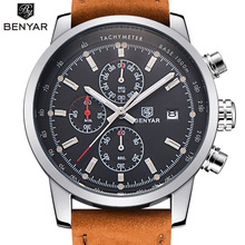 BENYAR Trend Chronograph Sport Mens Watches Prime Model Luxurious Quartz Watch Reloj Hombre 2017 Clock Male hour relogio Masculino