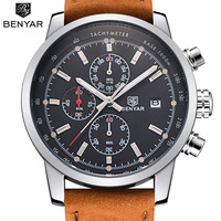 BENYAR Fashion Chronograph Sport Mens Watches Top Brand Luxury Quartz Watch Reloj Hombre 2016 Clock Male
