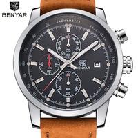 BENYAR Fashion Chronograph Sport Mens Watches Top Brand Luxury Quartz Watch Reloj Hombre 2016 Clock Male