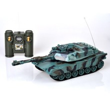 OCDAY 1:28 RC Tank 27Mhz Infrared RC M1A2 Tank Remote Control Tank Remote Toy with Musical Flashing for Child Boy