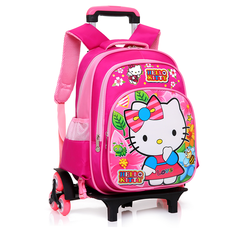 Latest Removable Children School Bags With 6 Wheels Stairs Kids boys girls Trolley Schoolbag Luggage Book Bags Wheeled Backpack цены