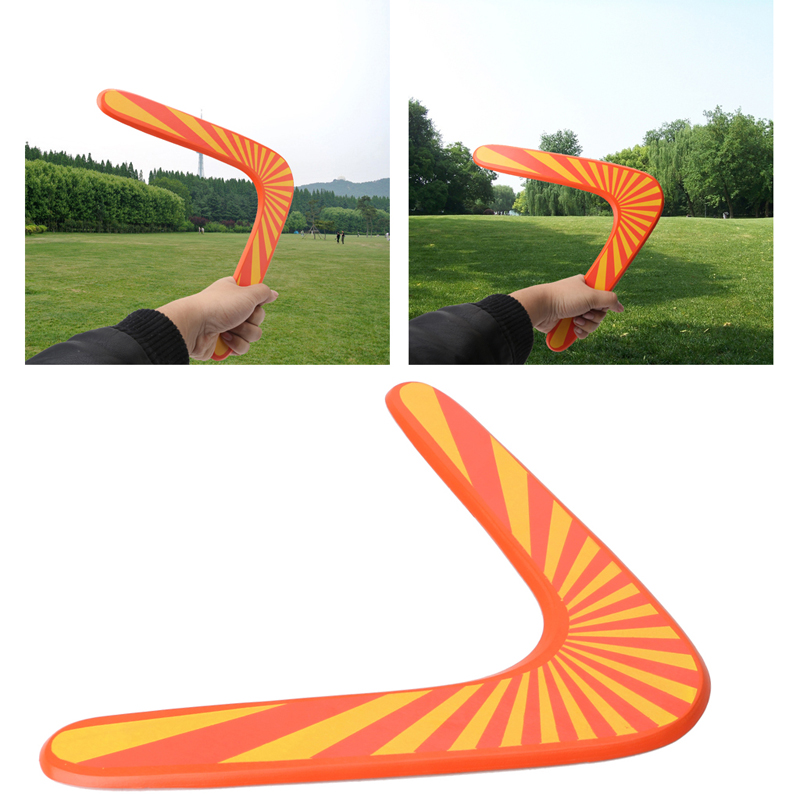 Throwback V Shaped Boomerang Wooden Flying Disc Kids Toy Throw Catch Outdoor Game