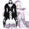 Rozen maiden suigintou mercury lampe dress gothic lolita negro cosplay dress + venda + banda para el cuello + flor morada