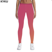 Printed Women 3d Deer Pink Dots Legging High Waist Legins Elastic Silm Fit Women Pants Gradient